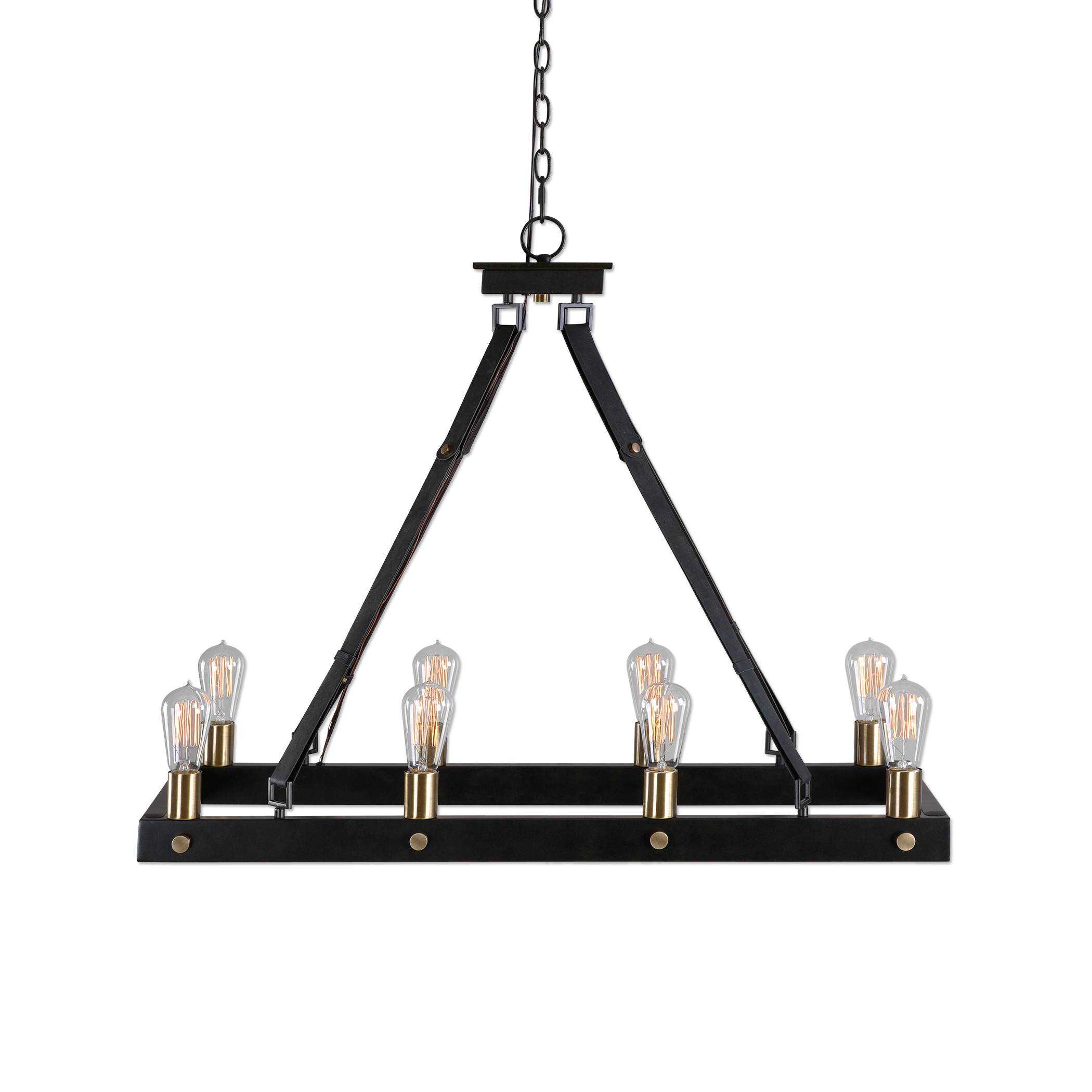 Uttermost Lighting Fixtures Marlow 8 Light Rectangle Chandelier - Item Number: 21279