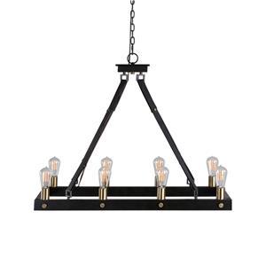 Uttermost Lighting Fixtures Marlow 8 Light Rectangle Chandelier