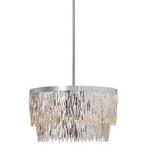 Uttermost Lighting Fixtures Millie 6 Light Chrome Pendant