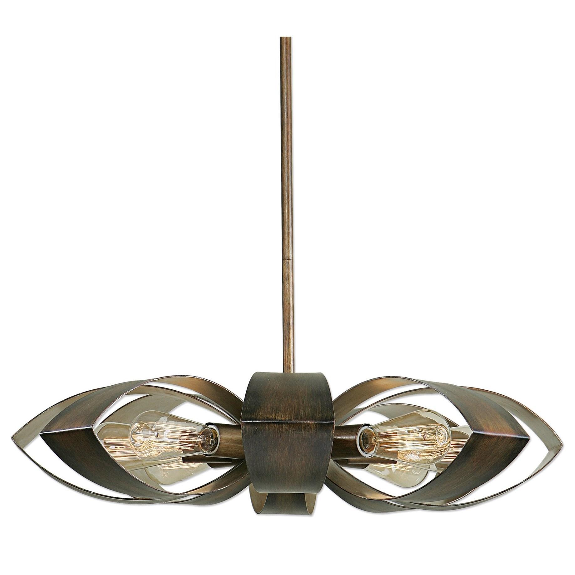 Uttermost Lighting Fixtures Daisy 8 Light Industrial Pendant - Item Number: 21284