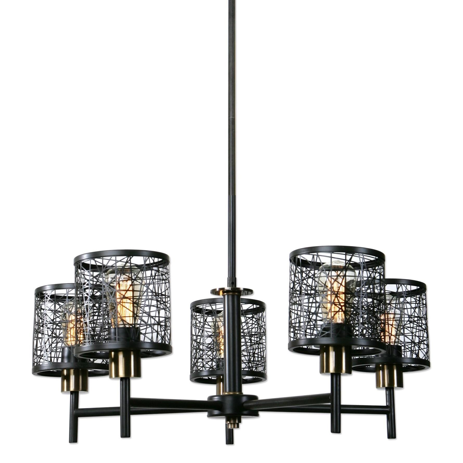Uttermost Lighting Fixtures ThinAlita 5 Light Bronze Chandelier - Item Number: 21285