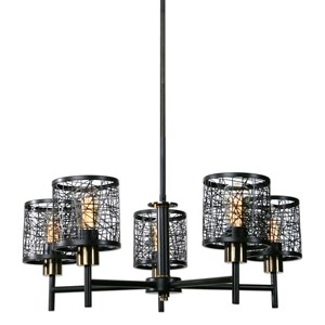 Uttermost Lighting Fixtures ThinAlita 5 Light Bronze Chandelier