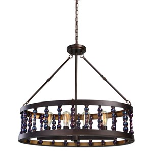 Uttermost Lighting Fixtures Mandrino 4 Light Oval Chandelier