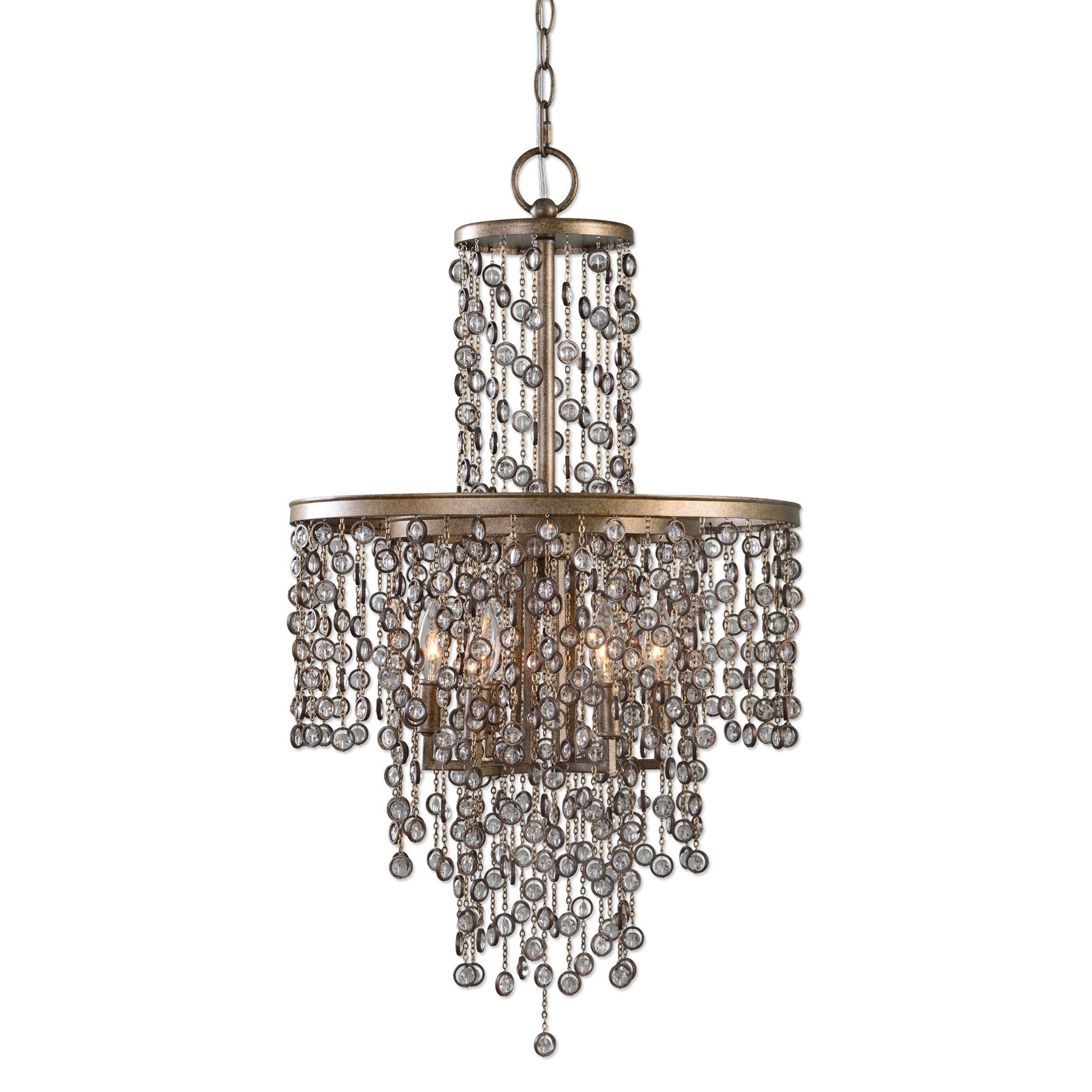 Uttermost Lighting Fixtures Valka 6 Light Crystal Chandelier - Item Number: 21288