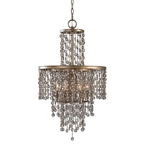 Uttermost Lighting Fixtures Valka 6 Light Crystal Chandelier