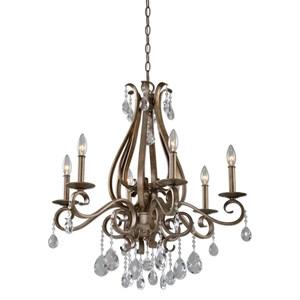 Uttermost Lighting Fixtures Siobhan 6 Light Crystal Chandelier