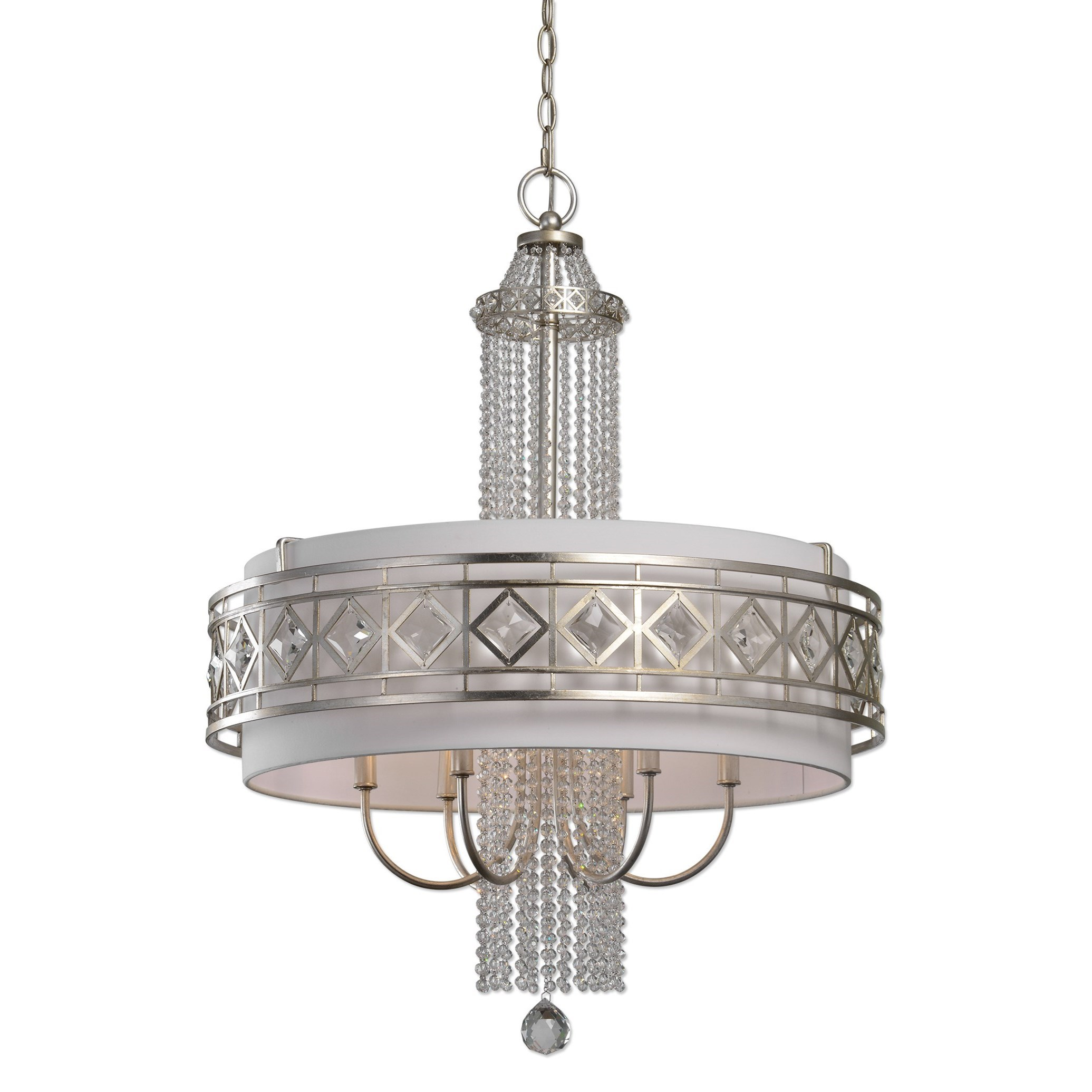 Uttermost Lighting Fixtures Tamela 6 Light Drum Chandelier - Item Number: 21293