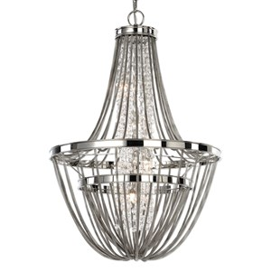 Uttermost Lighting Fixtures Couler Polished Nickel 4 Light Chandelier