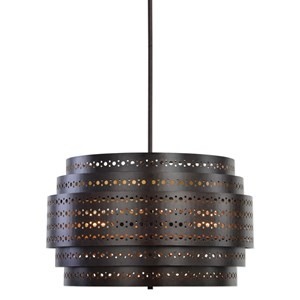 Uttermost Lighting Fixtures Fuller 3 Light Drum Chandelier