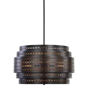 Uttermost Lighting Fixtures Fuller 3 Light Drum Chandelier