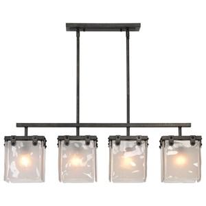 Uttermost Lighting Fixtures Brattleboro Industrial 4 Light Island pendan