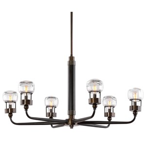 Uttermost Lighting Fixtures Graham 6 Light Bronze Chandelier