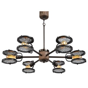 Uttermost Lighting Fixtures Gavia 6 Light Dark Brass Chandelier