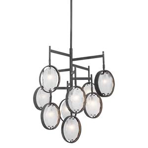 Uttermost Lighting Fixtures Maxin Dark Bronze 9 Light Chandelier
