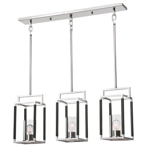 Newburgh 3 Light Nickel Pendant