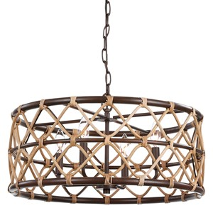 Hilo 4 Light Drum Pendant