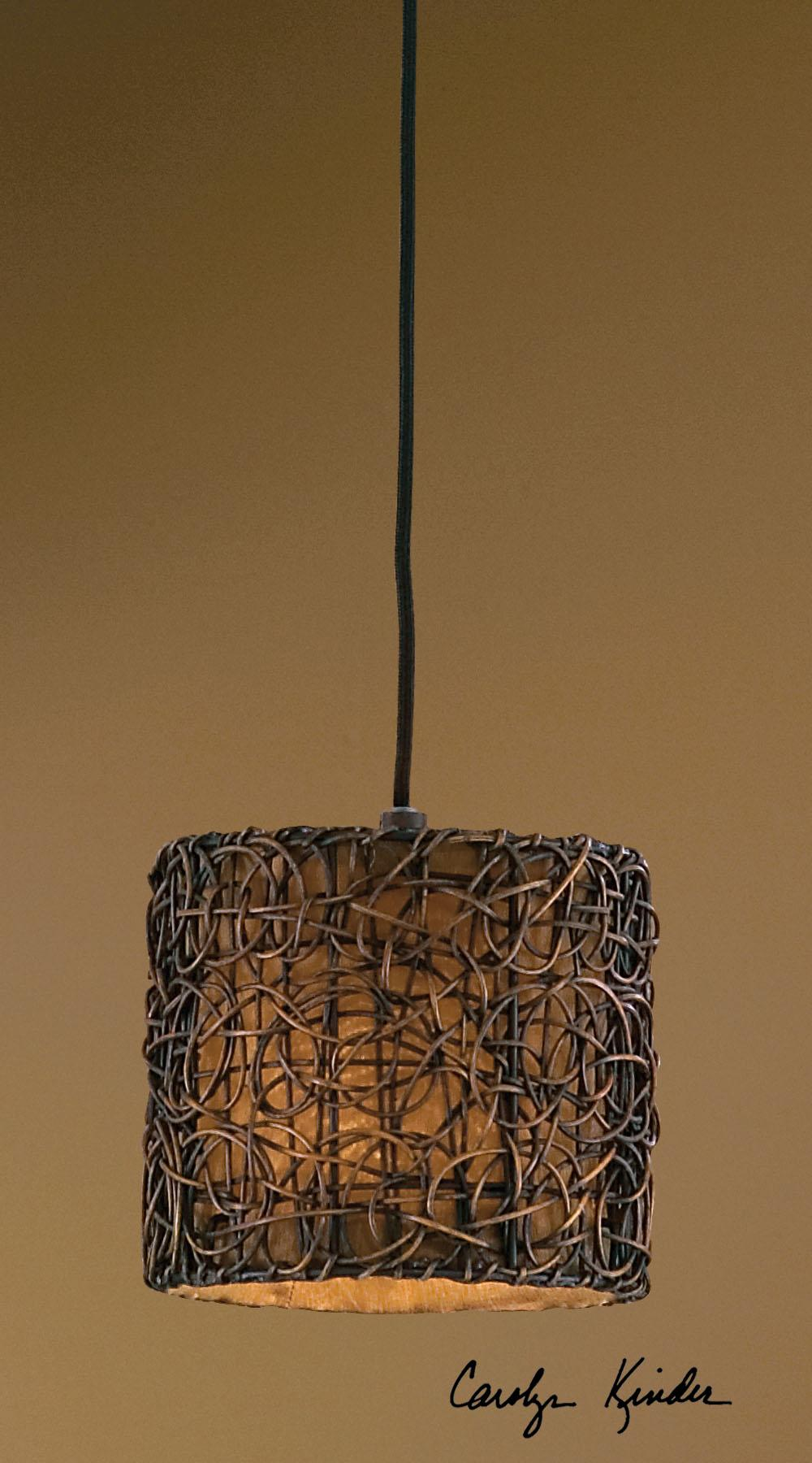 Uttermost Lighting Fixtures Knotted Rattan Mini Hanging Shade - Item Number: 21832