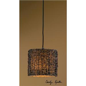 Uttermost Lighting Fixtures Knotted Rattan Mini Hanging Shade
