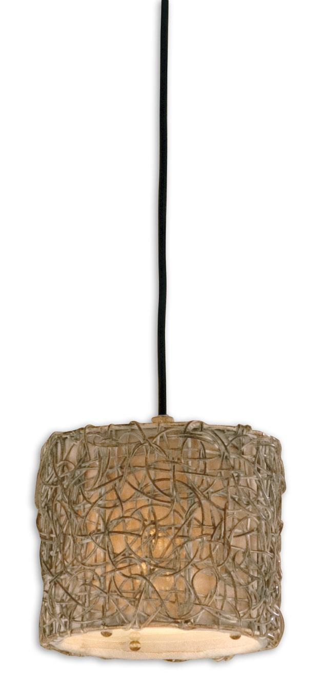 Uttermost Lighting Fixtures Knotted Rattan Light Mini Hanging Shade - Item Number: 21837