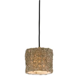 Uttermost Lighting Fixtures Knotted Rattan Light Mini Hanging Shade