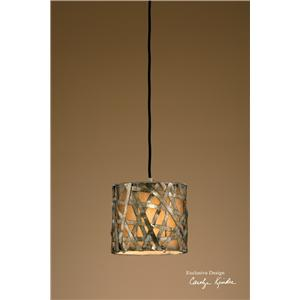 Alita Champagne Mini Metal Hanging Shade