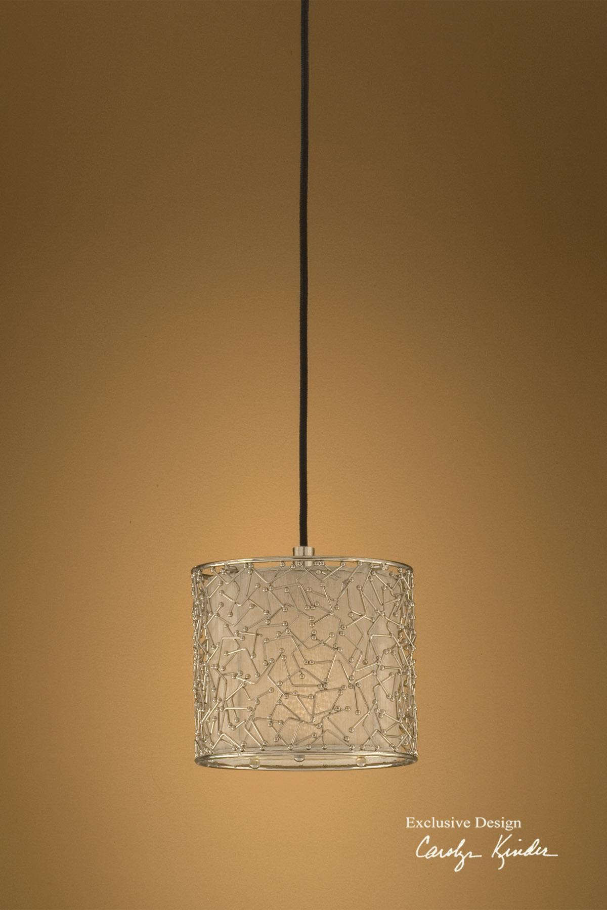Uttermost Lighting Fixtures Brandon Silver 1 Light Mini Hanging Shade - Item Number: 21856
