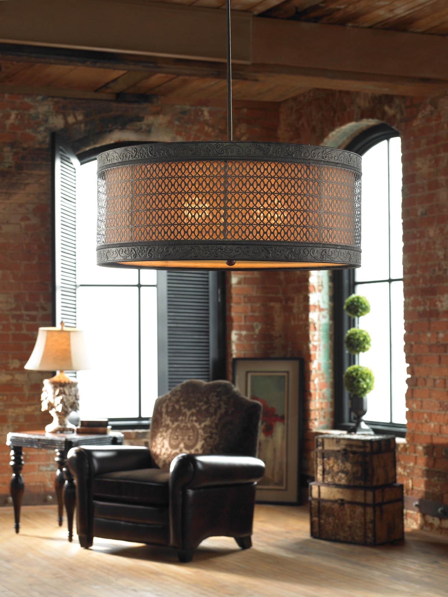 Uttermost Lighting Fixtures New Orleans 3 Light Hanging Shade - Item Number: 21891