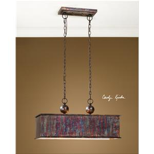 Uttermost Lighting Fixtures Albiano Rectangle 2 Light Pendant
