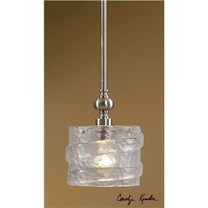 Uttermost Lighting Fixtures Mossa 1 Light Mini Pendant