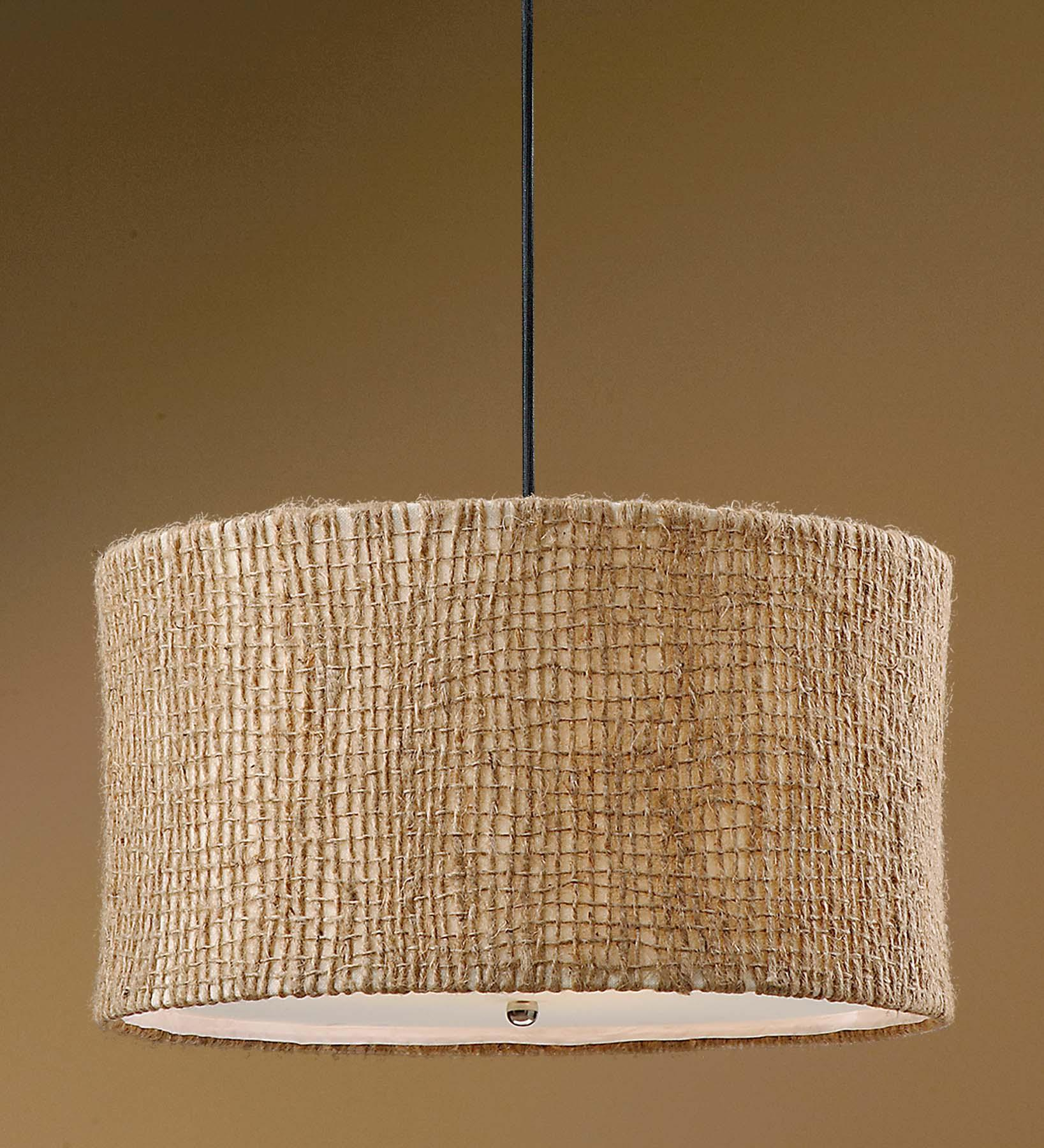 Uttermost Lighting Fixtures Burleson 3 Light Hanging Shade - Item Number: 21935