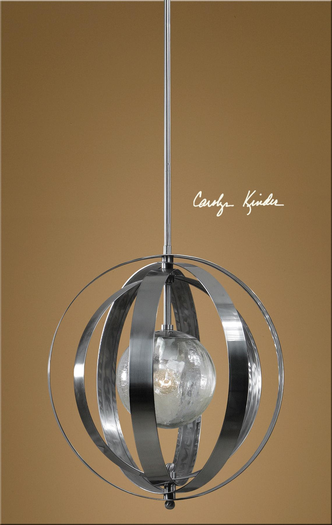 Uttermost Lighting Fixtures Trofarello Silver 1 Light Pendant - Item Number: 21938
