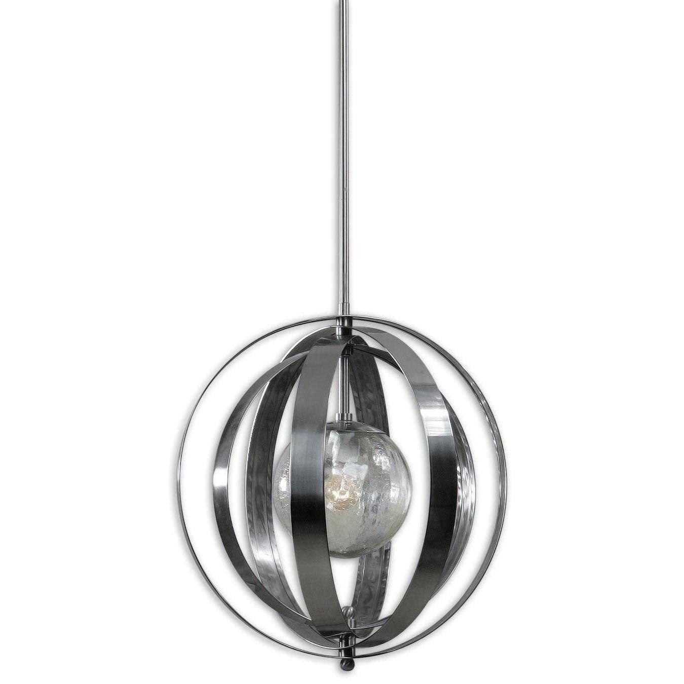 Uttermost Lighting Fixtures Trofarello Silver 1 Light