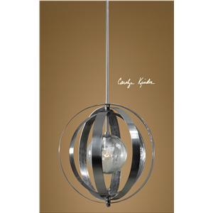 Uttermost Lighting Fixtures Trofarello Silver 1 Light Pendant