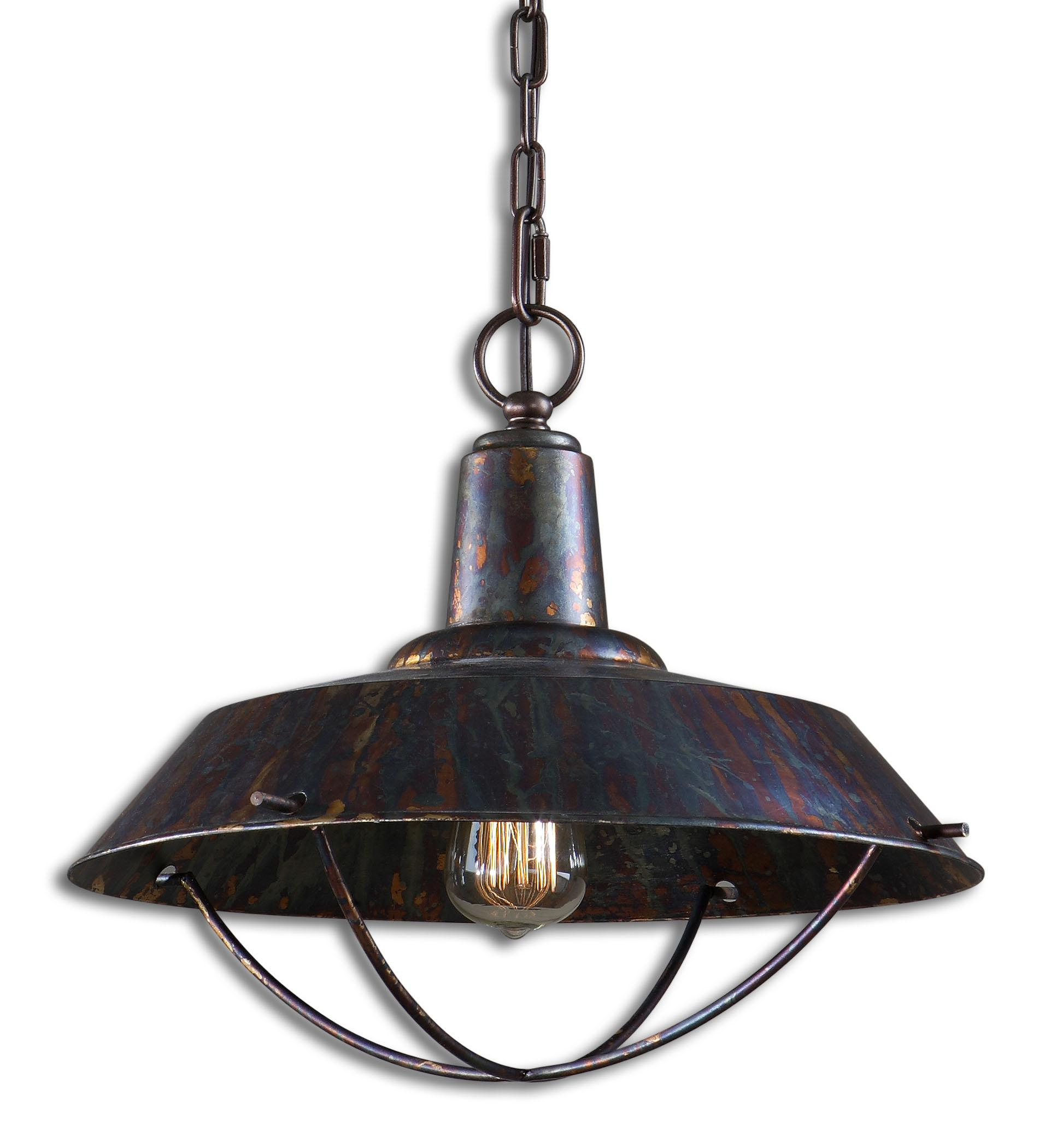 Uttermost Lighting Fixtures Arcada 1 Light Bronze Pendant - Item Number: 21974