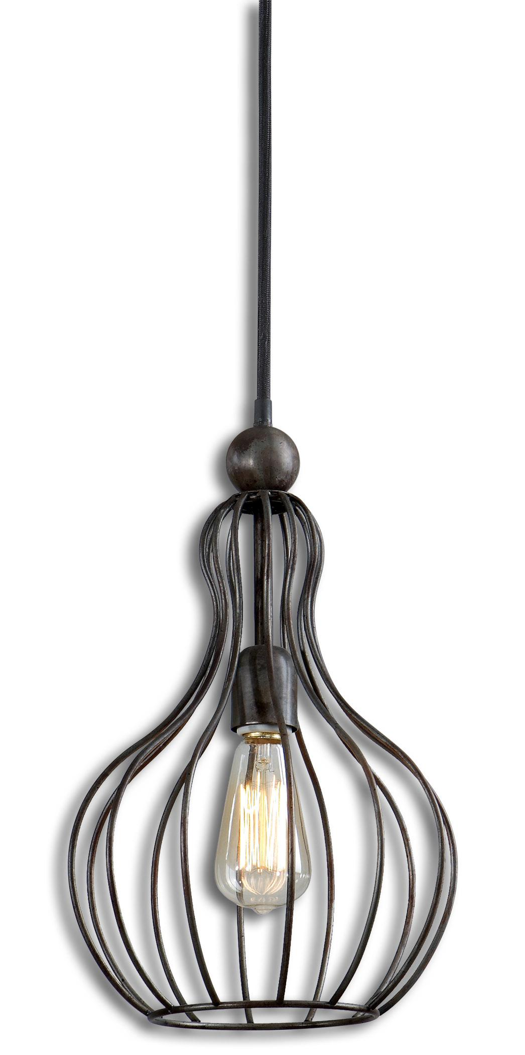 Uttermost Lighting Fixtures Bourret 1 Light Pendant - Item Number: 21979