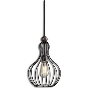 Uttermost Lighting Fixtures Bourret 1 Light Pendant