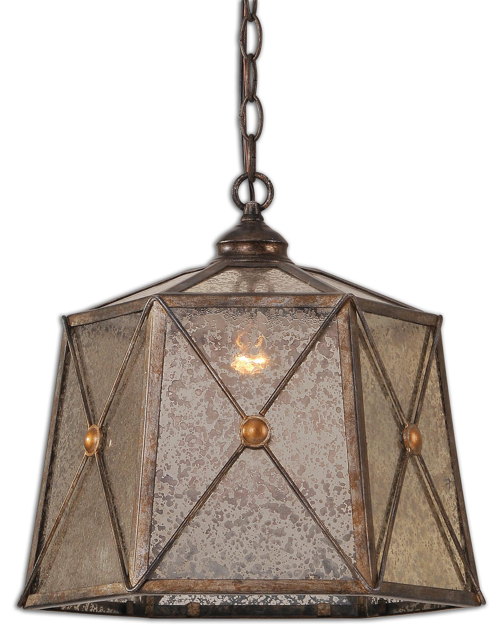 Uttermost Lighting Fixtures Basiliano 1 Light Pendant - Item Number: 21991