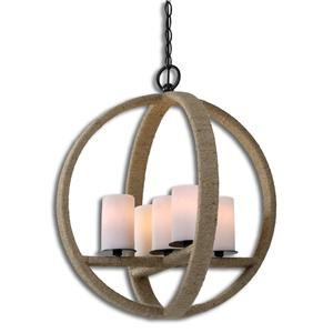 Uttermost Lighting Fixtures Gironico Round 5 Light Pendant
