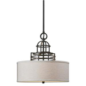 Uttermost Lighting Fixtures Uttermost Cupola 3 Light Drum Shade