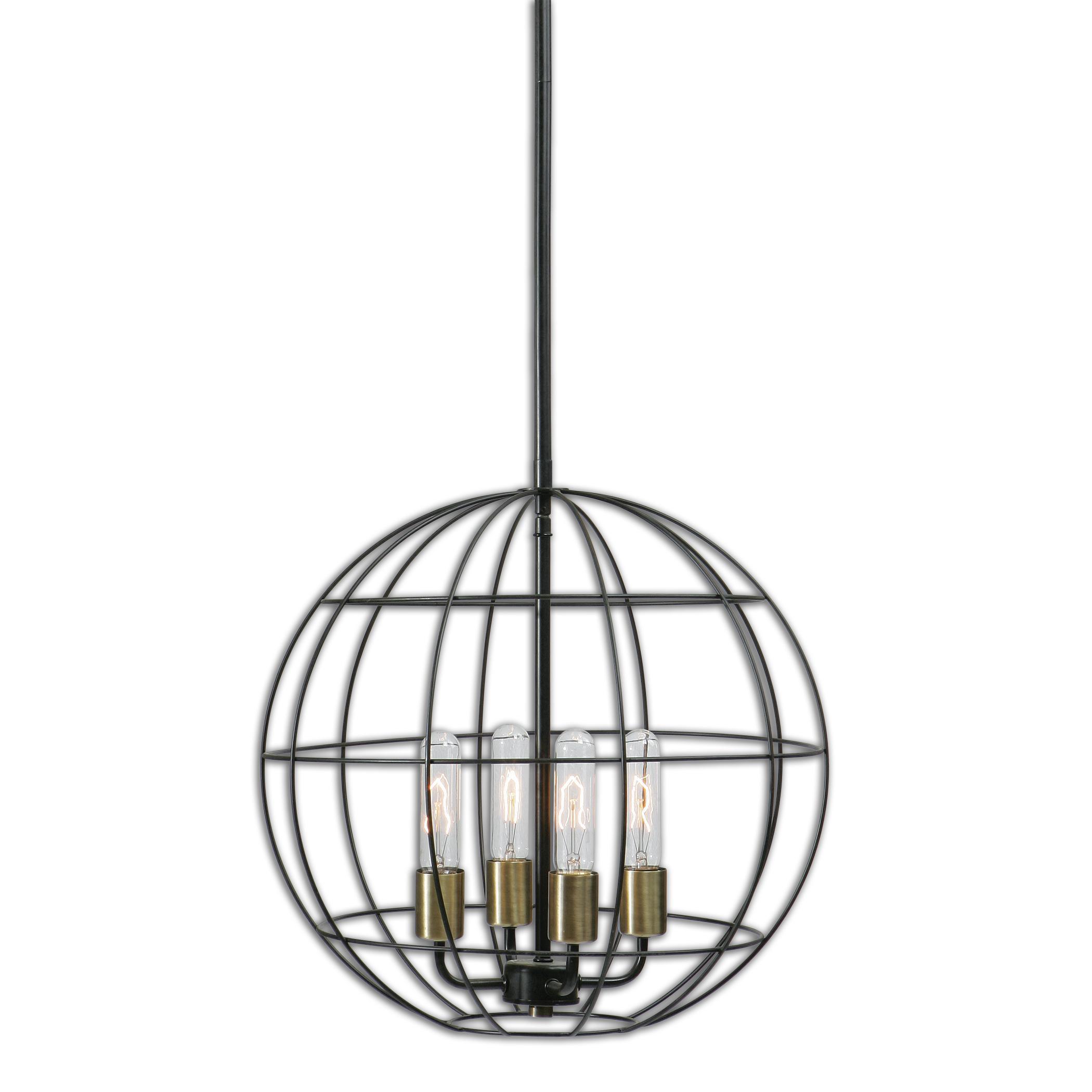 Uttermost Lighting Fixtures Uttermost Palla 4 Light Sphere Pendant - Item Number: 22023