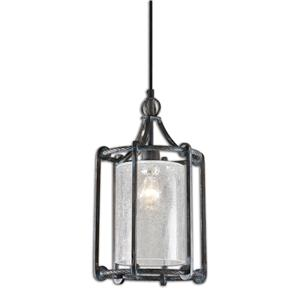 Uttermost Lighting Fixtures Uttermost Generosa 1 Light Crackle Glass Lan