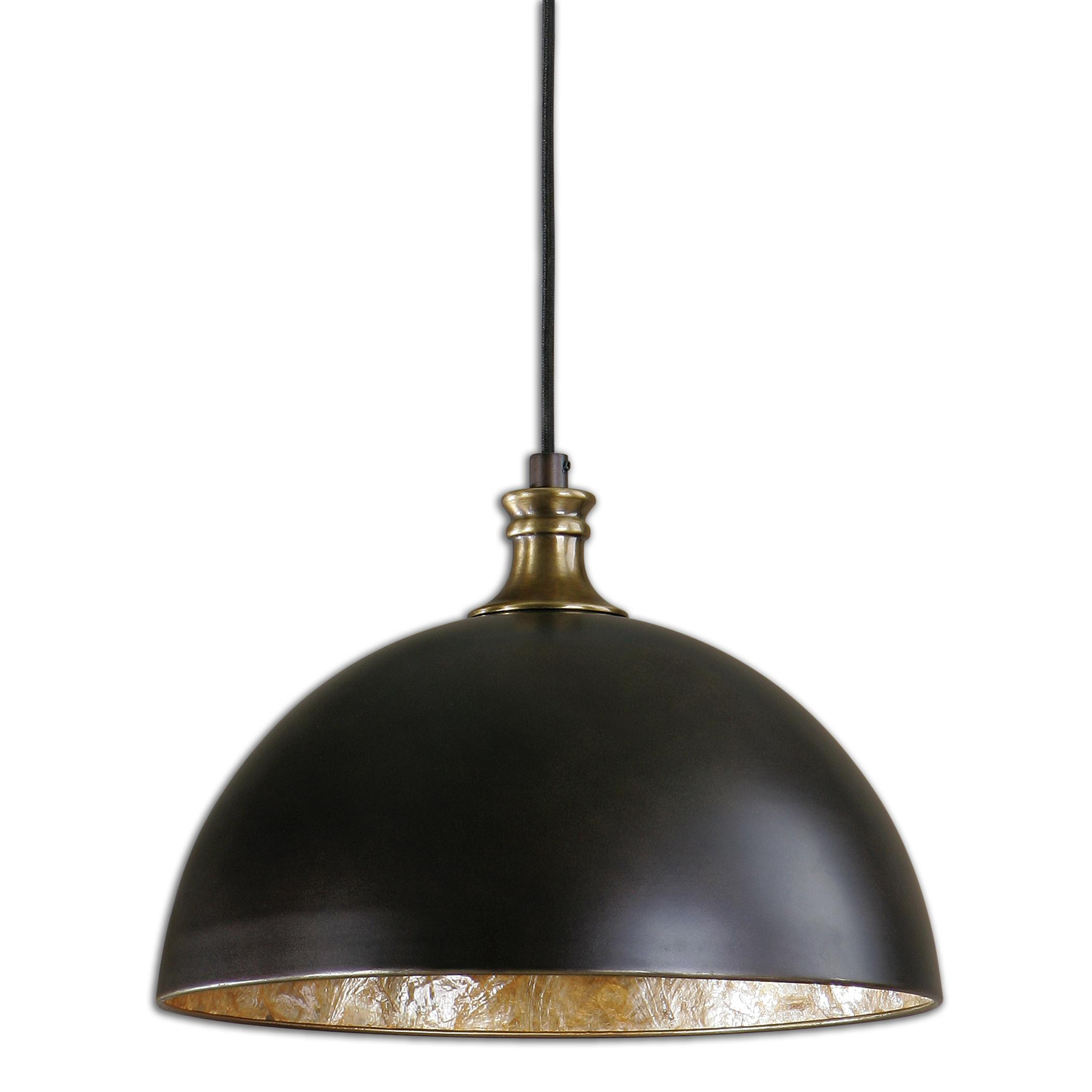 Uttermost Lighting Fixtures Uttermost Placuna 1 Light Bronze Pendant - Item Number: 22028