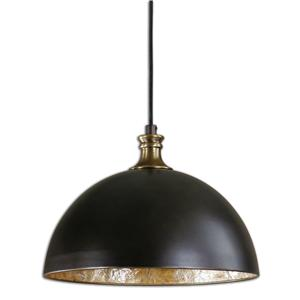 Uttermost Lighting Fixtures Uttermost Placuna 1 Light Bronze Pendant