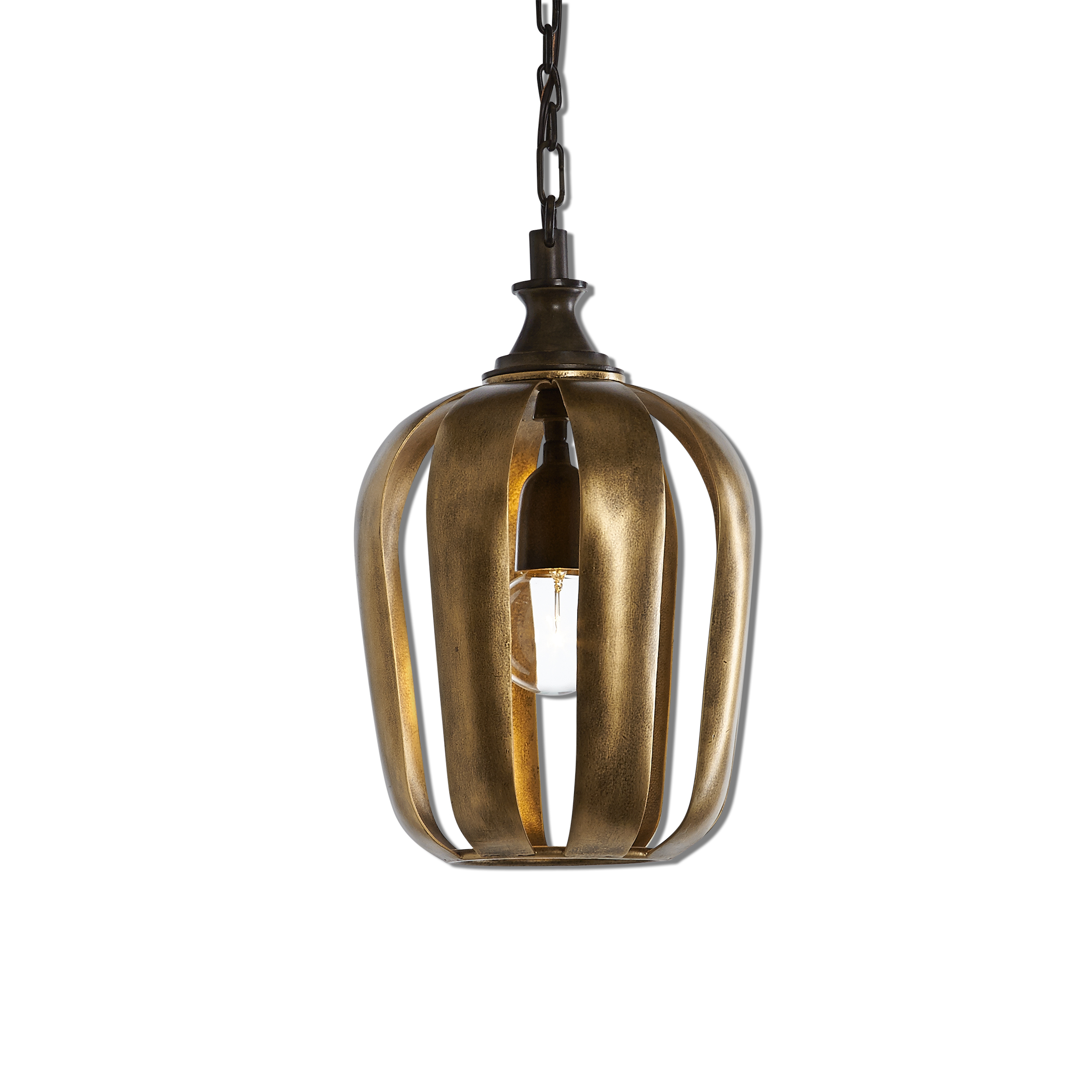 Uttermost Lighting Fixtures Zucca 1 Light Antique Gold Mini Pendant - Item Number: 22034