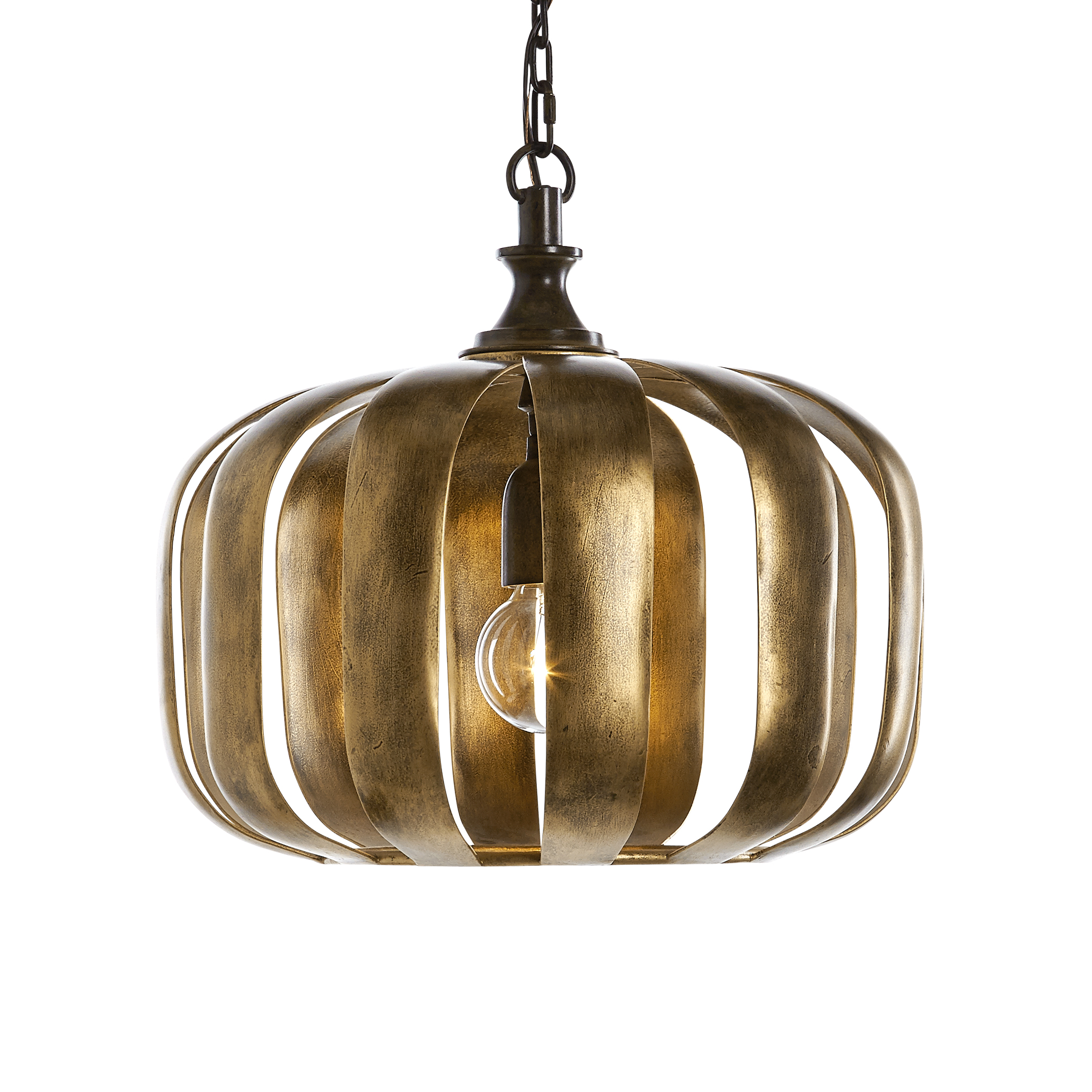 Uttermost Lighting Fixtures Zucca 1 Light Antique Gold Pendant - Item Number: 22035