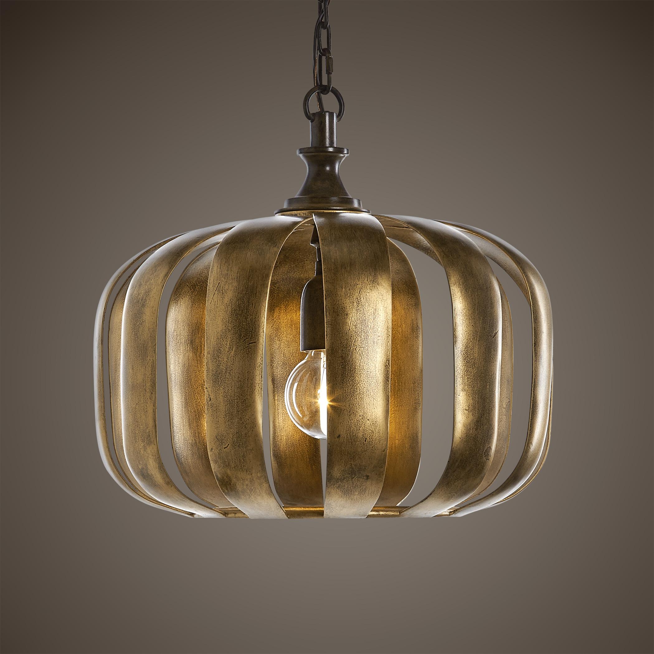 Uttermost Lighting Fixtures Zucca 1 Light Antique Gold