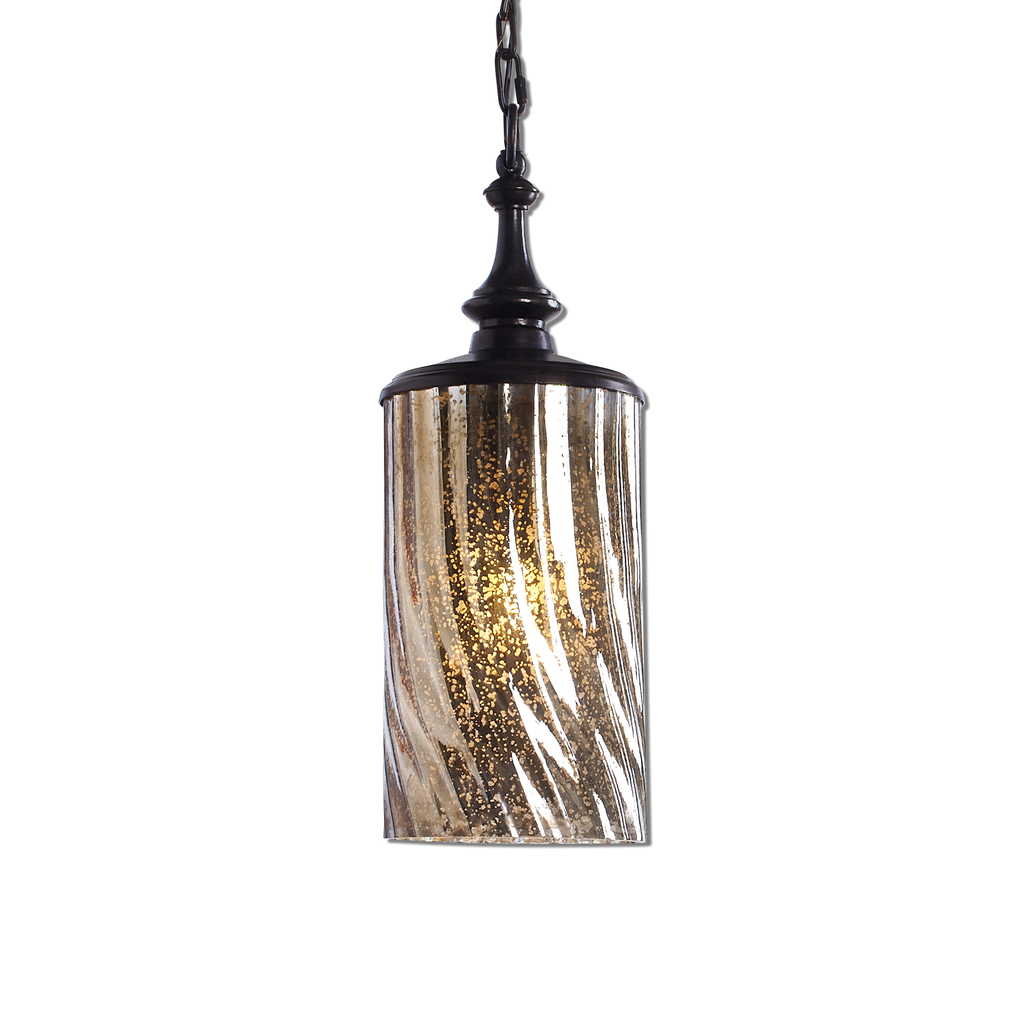 Uttermost Lighting Fixtures Trabes 1 Light Glass Mini Pendant - Item Number: 22037