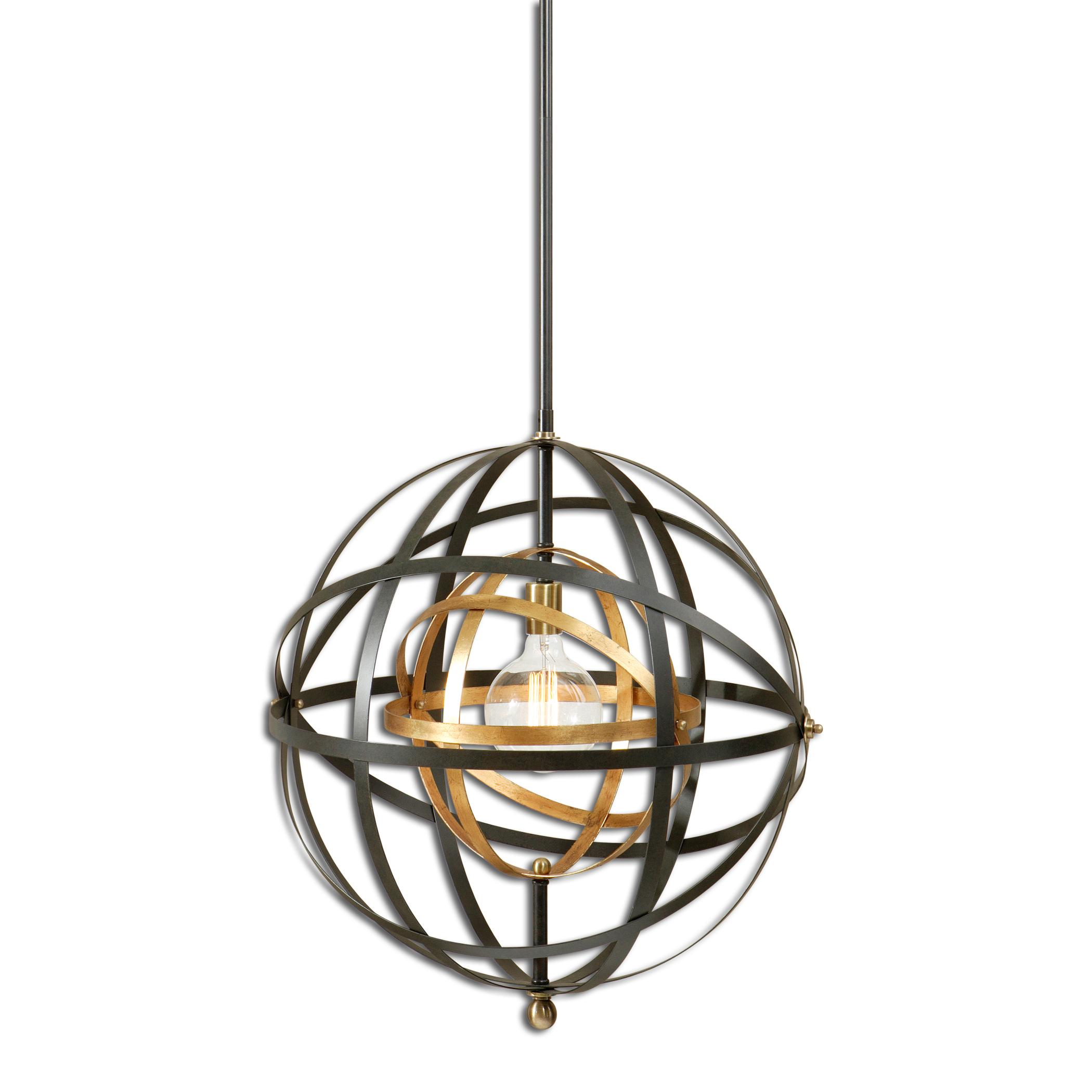 Uttermost Lighting Fixtures Rondure 1 Light Sphere Pendant - Item Number: 22038