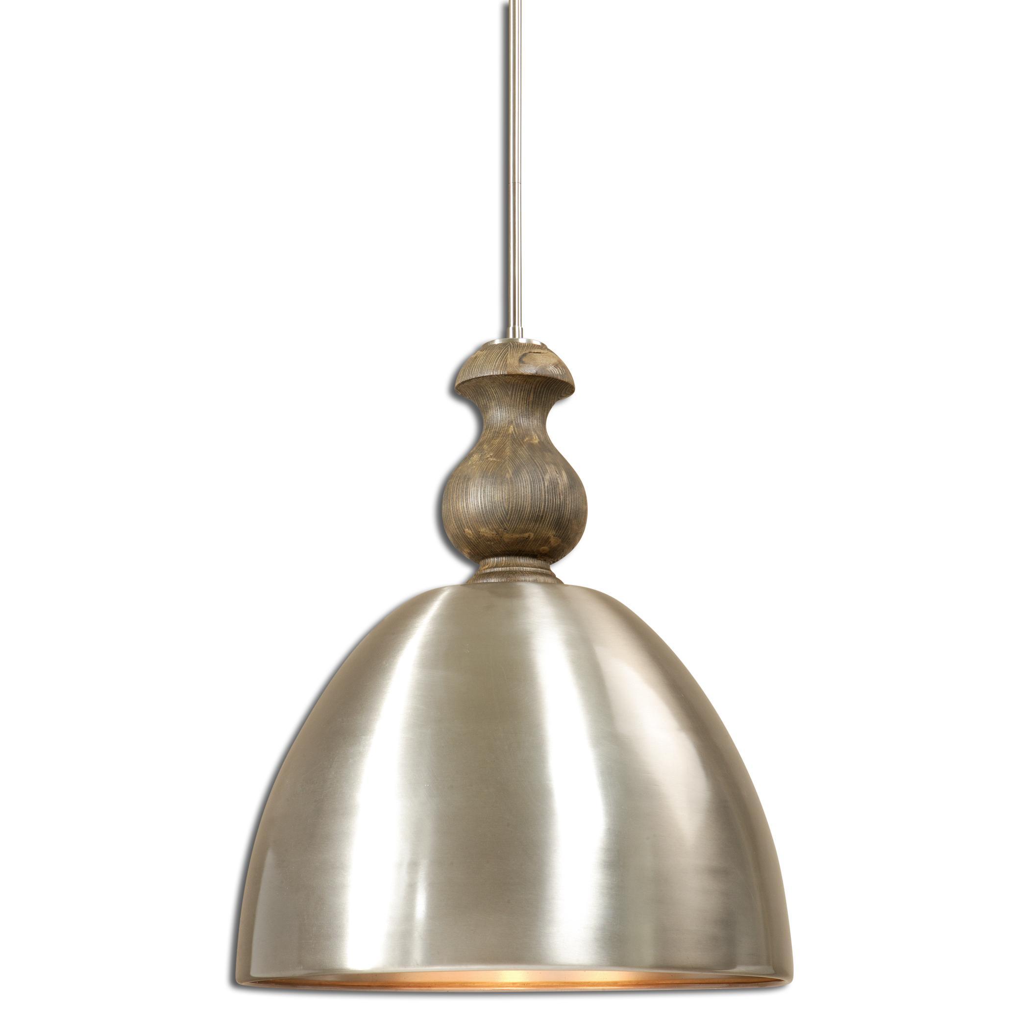 Uttermost Lighting Fixtures Luna 3 Light Aluminum Pendant - Item Number: 22042