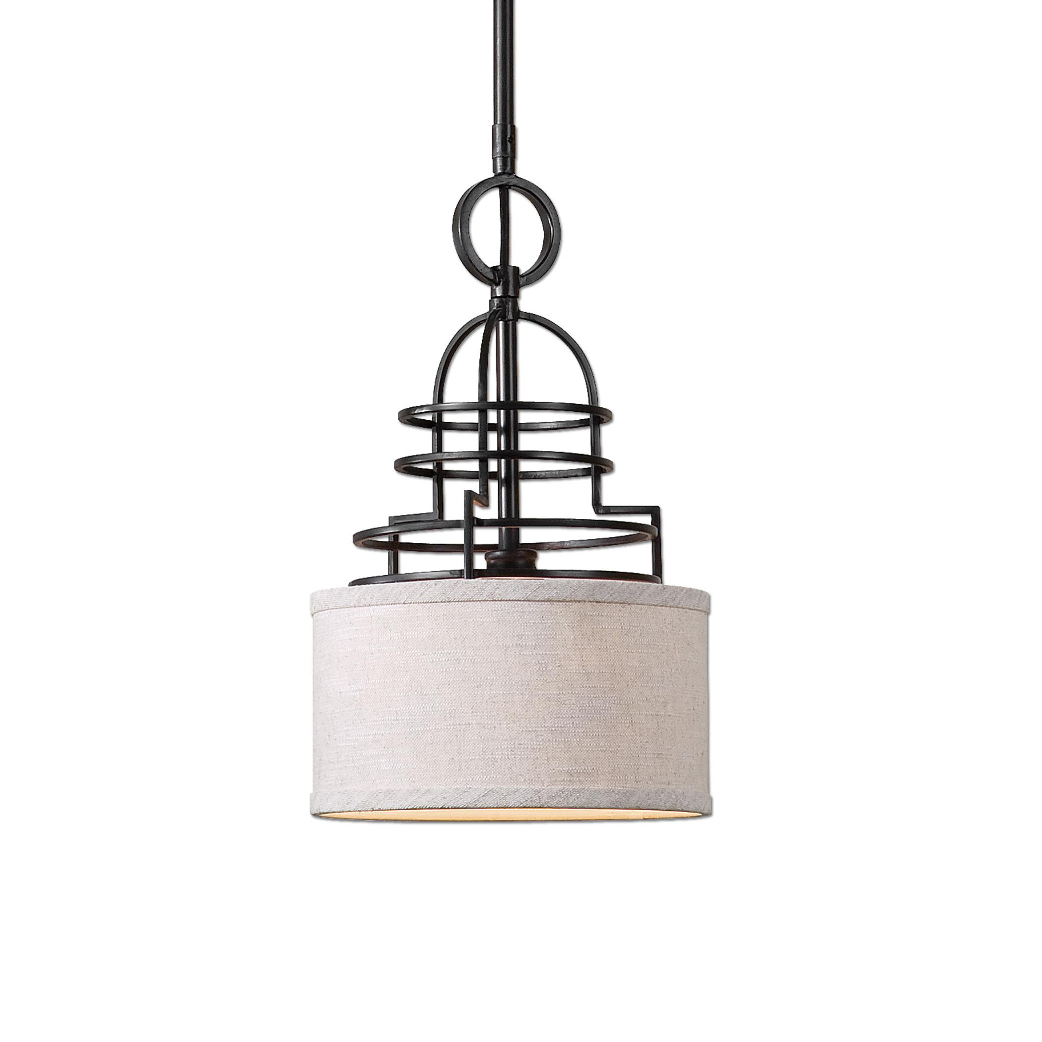 Uttermost Lighting Fixtures Cupola 1 Light Mini Drum Pendant - Item Number: 22054